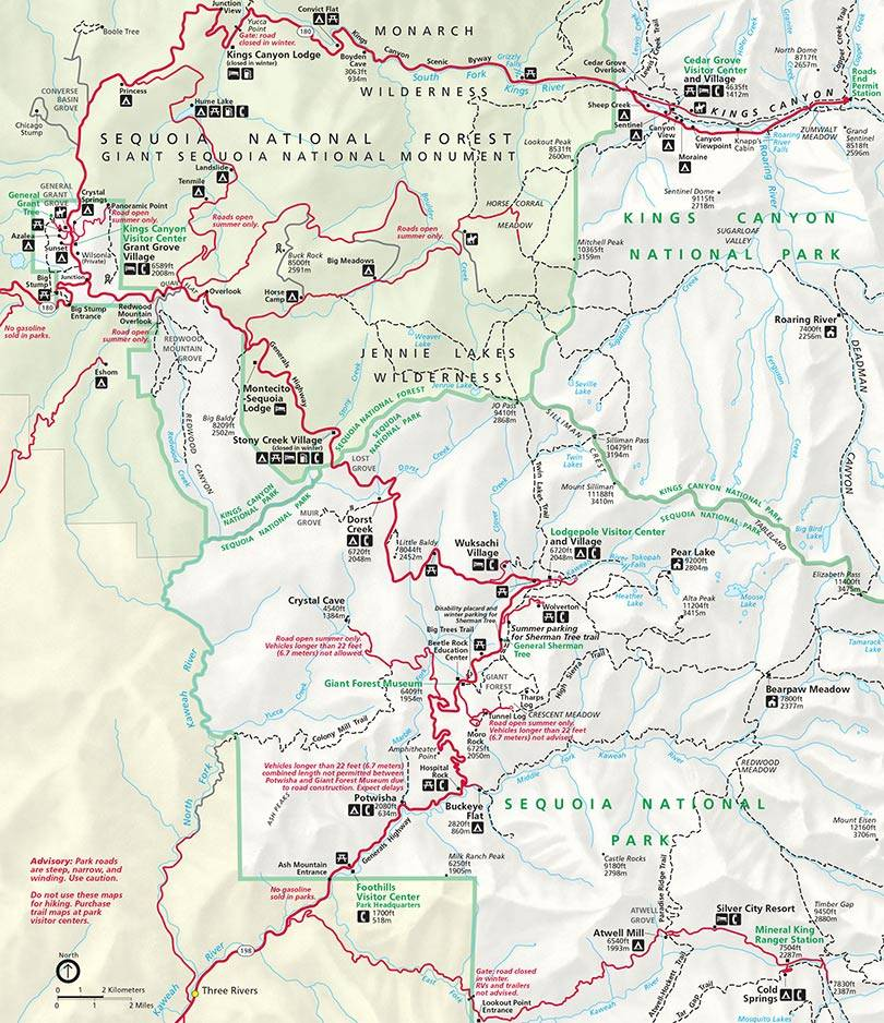 SEKI Hiking Train Map