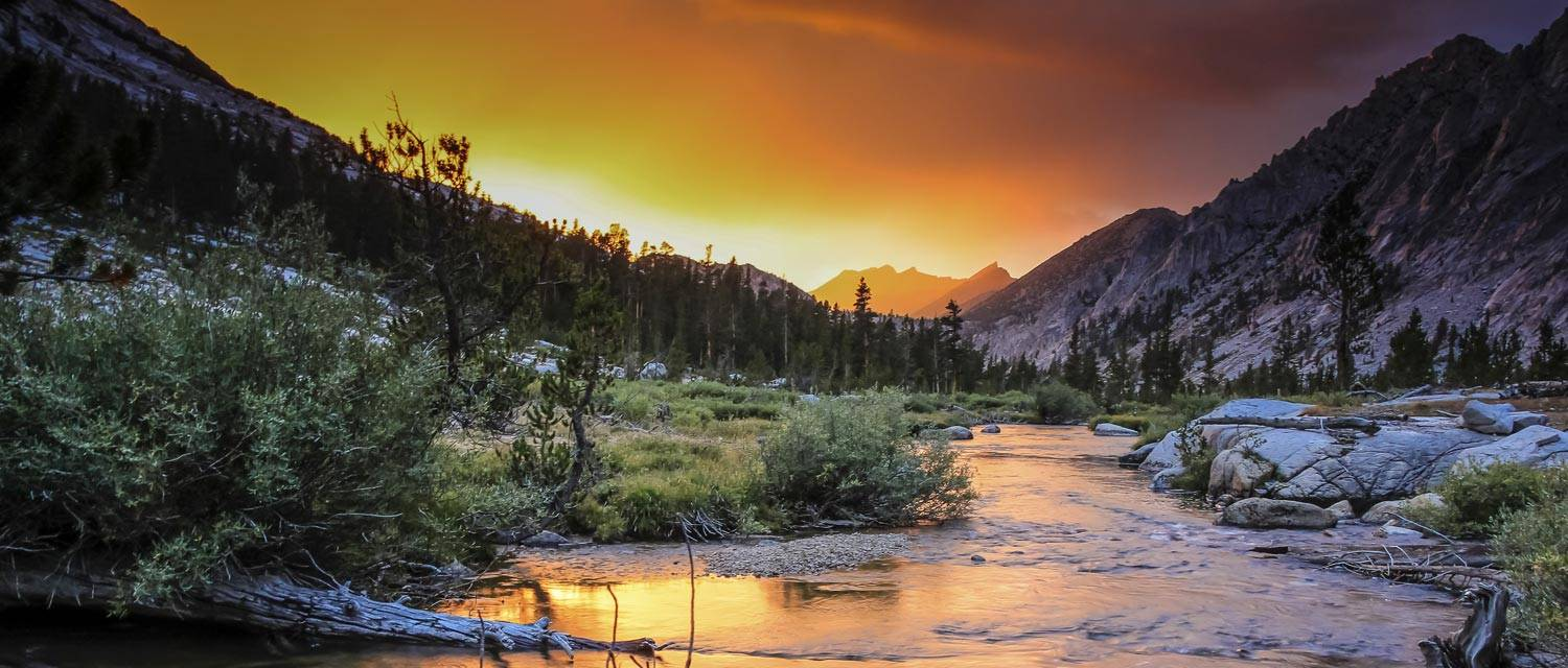 Sunset at Kings Canyon National Park