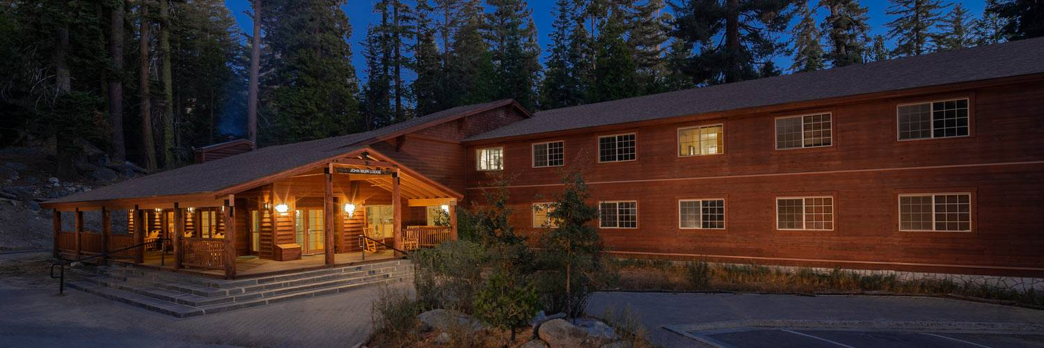 Exterior view of John Muir Lodge in Kings Canyon National Park