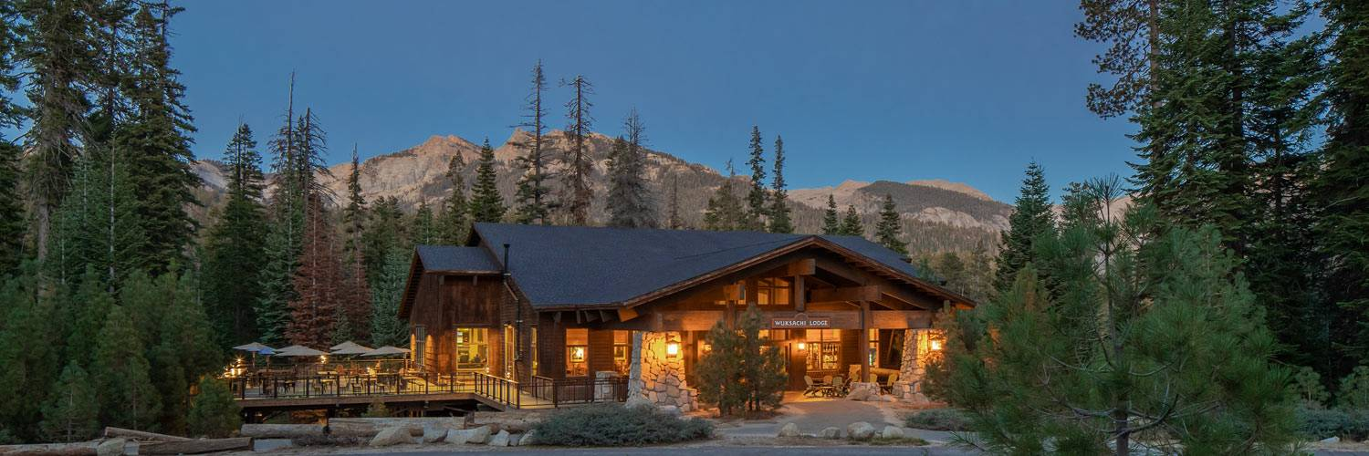 Exterior view of Wuksachi Lodge in Sequoia National Park