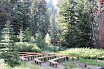 Outdoor wedding ceremony venue at Sequoia & Kings Canyon National Parks